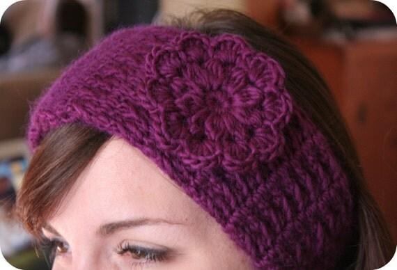 HEADBAND Crochet Pattern with Pretty Flower
