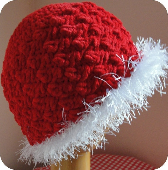 Baby Girl CROCHET PATTERN Hat and Purse pdf Holiday Winter Christmas 4 sizes 0-5 years
