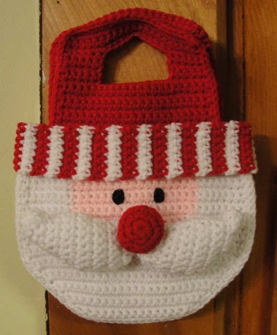 Girl S Santa Crochet Pattern Christmas Purse Bag By
