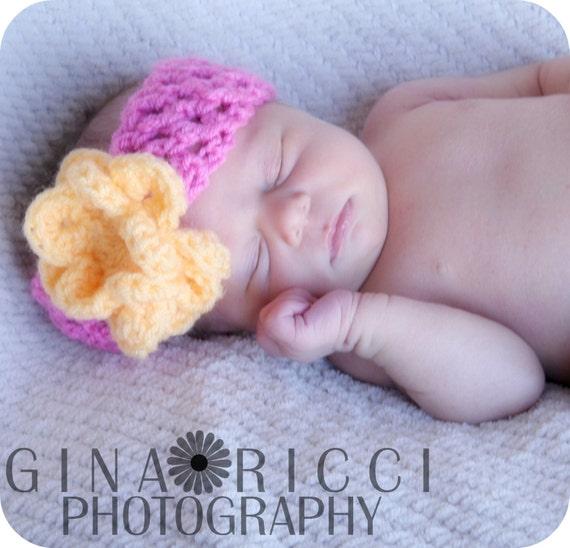 Baby Headband Crochet Pattern Photography Prop Blossom