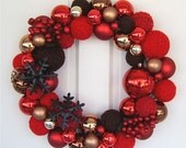 Chocolate Covered Strawberry Christmas 18 inch wreath