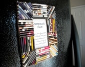 Upcycled Magazine Paper Refrigerator 2x3 Magnetic Picture Frame - A