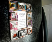 Upcycled Magazine Paper 2x3 Magnetic Picture Frame - F