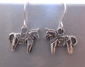 Silver Dala scandinavian horse earring