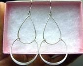 silver or Gold chandlier earring