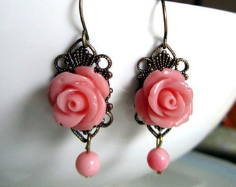 Rose grace - filigree with coral pink