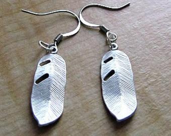 leaf earring tibetian silver