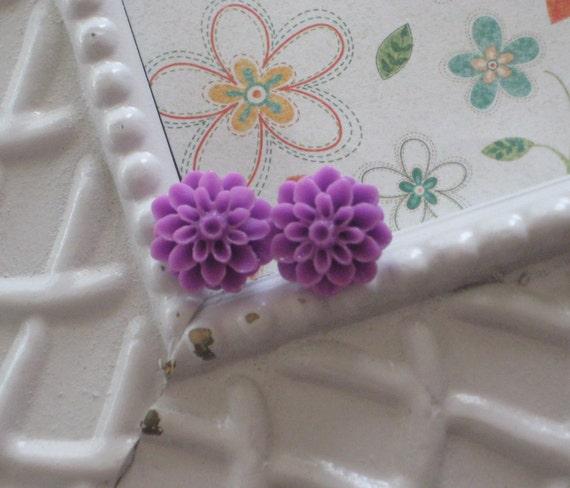 Purple Mum Earrings Buy 3 get 4th Free