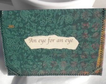 An Eye For An Eye ID,Bus Pass,Library Card Holder / Wallet