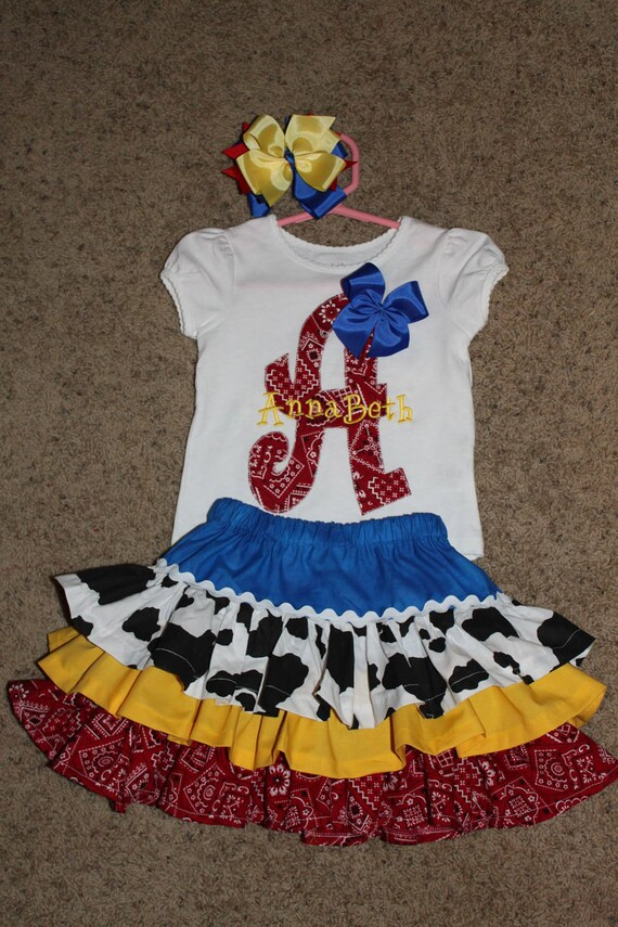 Toy Story Jessie inspired cowgirl SKIRT ONLY