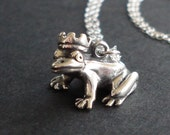 Frog Prince Charm - Sterling Silver