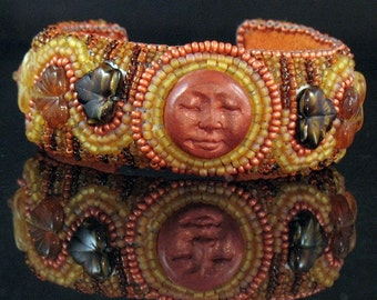 Burnt Orange Face Bracelet