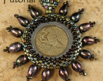 Beading Tutorial - Captured Coin Pendant