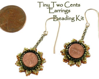 Beading Kit - Tiny Two Cents Earrings