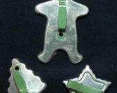 Vintage Metal Cookie Cutters - Set of 3 - 1940's