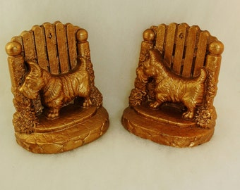 Scottie Dog Book Ends - Scotty Dog - Highland Terrier