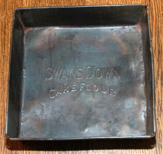 Vintage Square Steel Swans Down Baking Pan