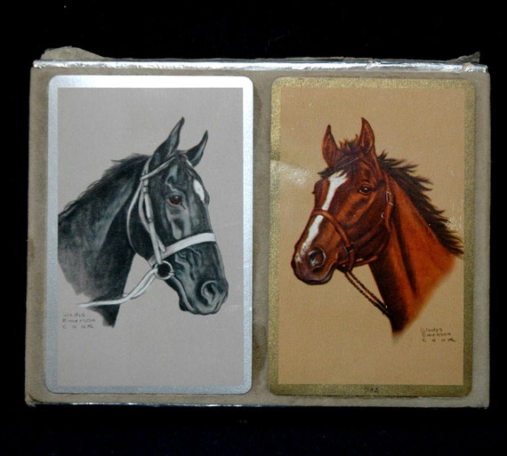 Vintage Horses Playing Card Decks - Gladys Emerson Cook