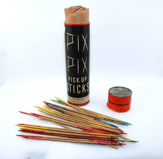 Vintage 1937 Whitman Pix Pix Pick Up Sticks Game