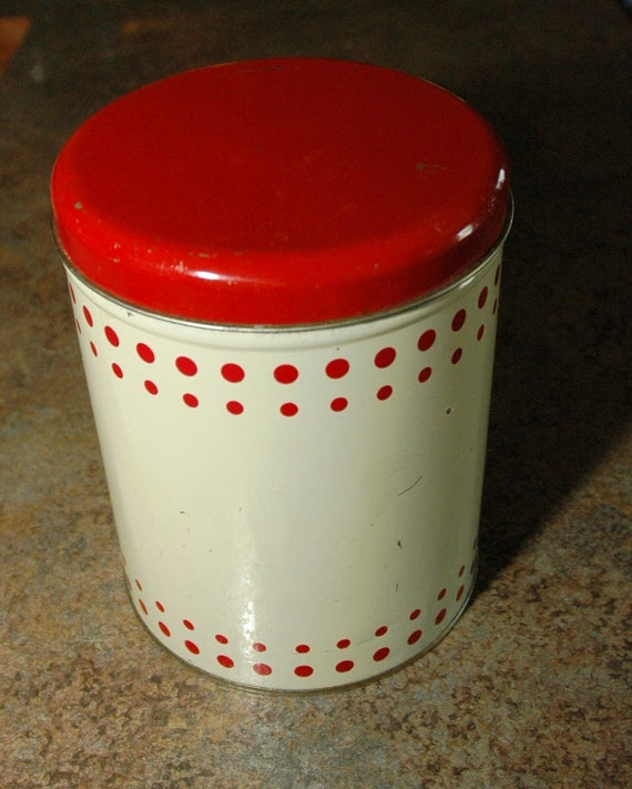 Retro Kitchen - Vintage Metal Canister - 1940's - 1950's