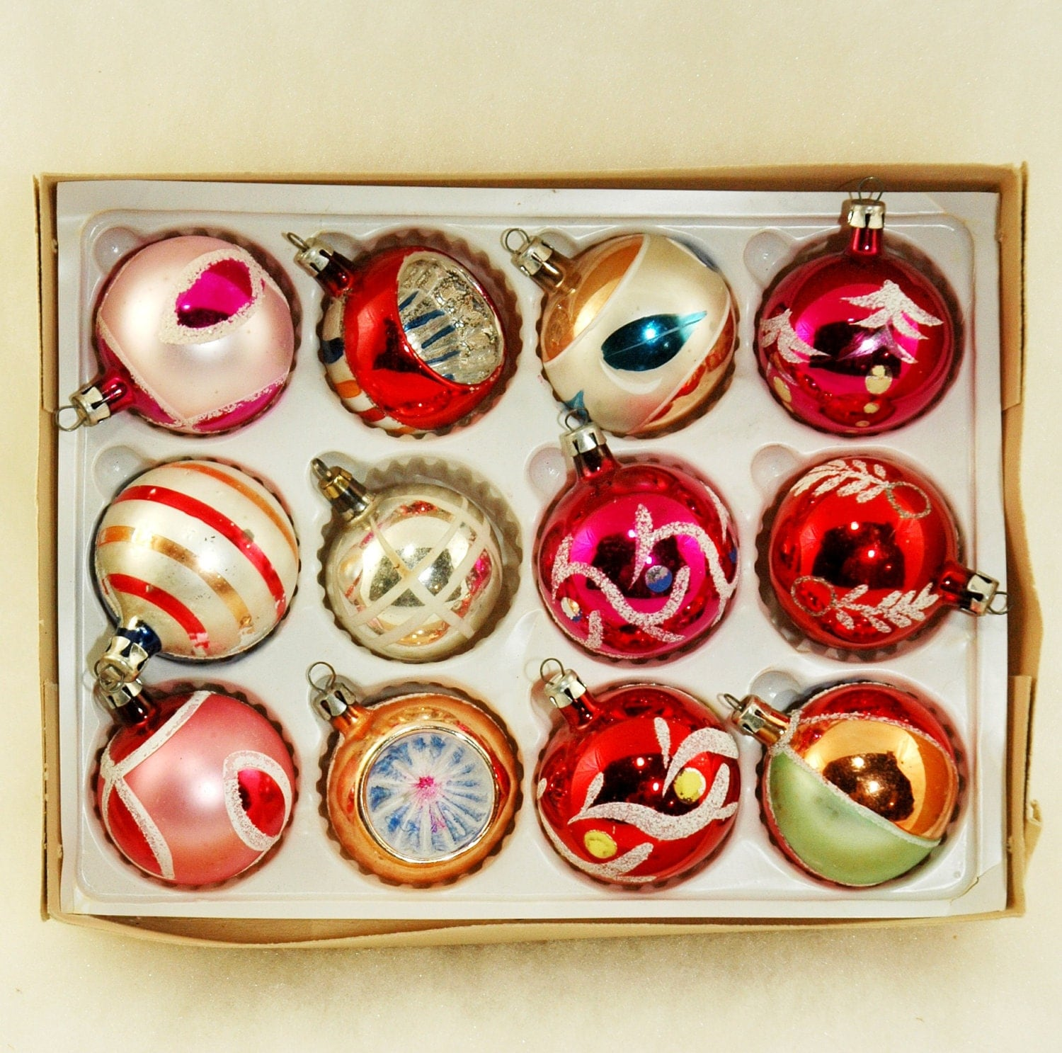 Poland Glass Ornaments Vintage Christmas Tree Ornaments in