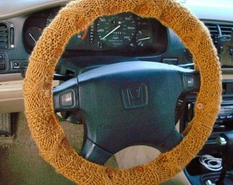 CLEARANCE SALE Honey Knit Steering Wheel Cover with safety rubber backing