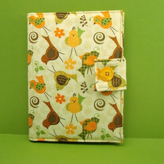 "eReader Case or Pouch ""Retro Quail and Sparrows"" (Kindle, Nook, Sony, Kobo, Pandigital, Velocity)"