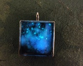 Glow In The Dark Galaxy Silver Window Necklace