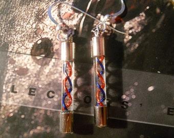 Handblown Glass Super Mini DNA Strand Earrings