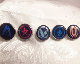 Mass Effect Inspired Lapel Pin, Tie Tack, Choose From 5 Different Styles