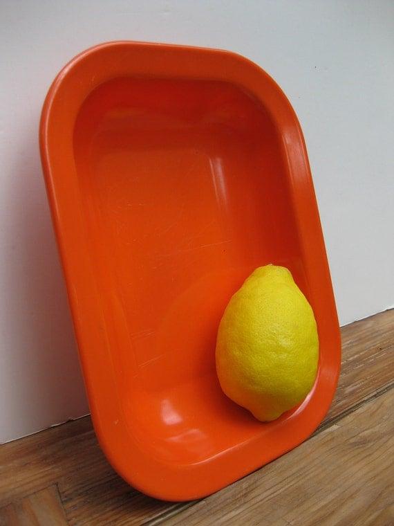 Vintage Texas Ware orange melamine serving bowl