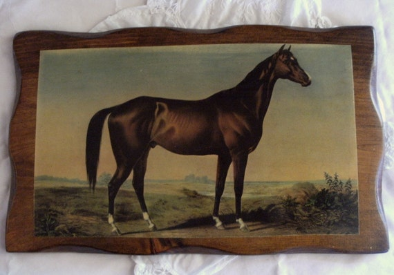 vintage HORSE plaque, equestrian, prairie, ranch, or farmhouse decor