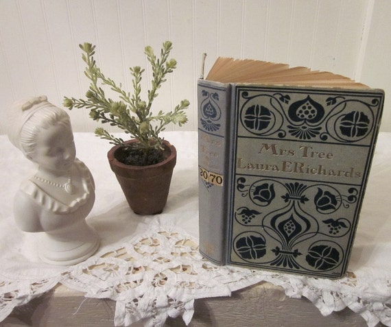 vintage Mrs. Tree by Laura E. Richards, illustrated by Frank T. Merrill, antique 1902 First Edition HC collectible book, grey & blue