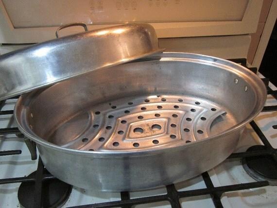 Vintage Roasting Pan With Handles Mirro 877m Roaster With