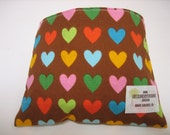 Reusable Snack Bag - Hearts - Free Shipping