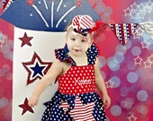 July 4th Outfit With Top Hat- American Beauty Set