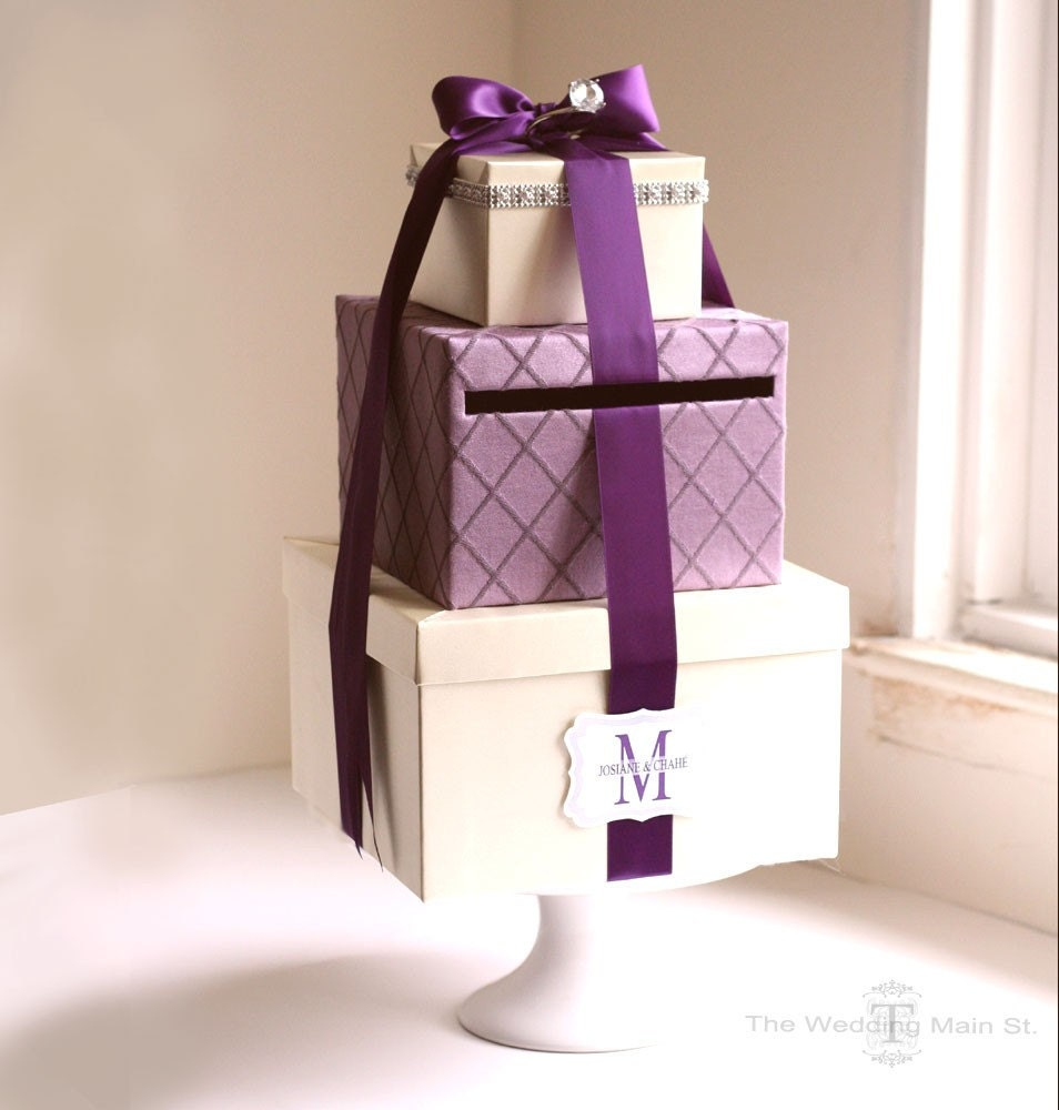Wedding Card Holder Gift Ideas: Wedding Card Box Wedding Gift Card Box Wish Card Box Gift Card