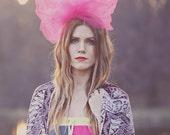 Bold Avant Garde Pink Hair Piece // Blair