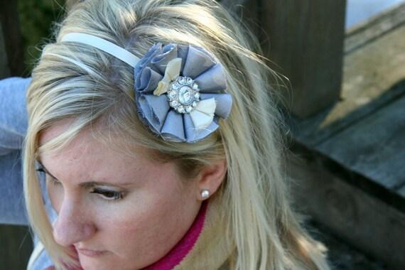 Holiday - jeweled ribbon headband / 002