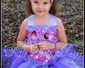 Custom flower Dora corset birthday tutu dress 12m 18m 2t 3t 4t 5t 6