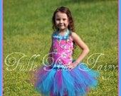 Smurfs smurfette pink blue corset birthday tutu dress 12m 18m 2t 3t 4t 5t 6