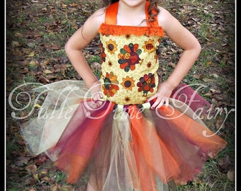 Thanksgiving Turkey time corset birthday tutu dress 12m 18m 2t 3t 4t 5t