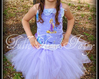 Disney Princess Tangled Rapunzel pageant Birthday party lavender  tutu dress any size 12m 18m 2t 3t 4t 5t 6 7 8