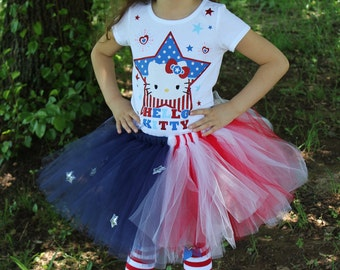 Patriotic 4th of July Red White Blue Tutu ONLY 12m 18m 2t 3t 4t 5t 6
