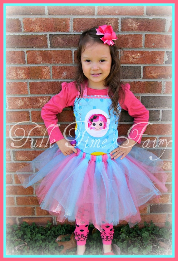 Lalaloopsy Birthday pageant tutu dress any size 12m 18m 2t 3t 4t 5t 6 pink tutu party dress