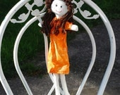 Cloth doll - raggedy ann type doll
