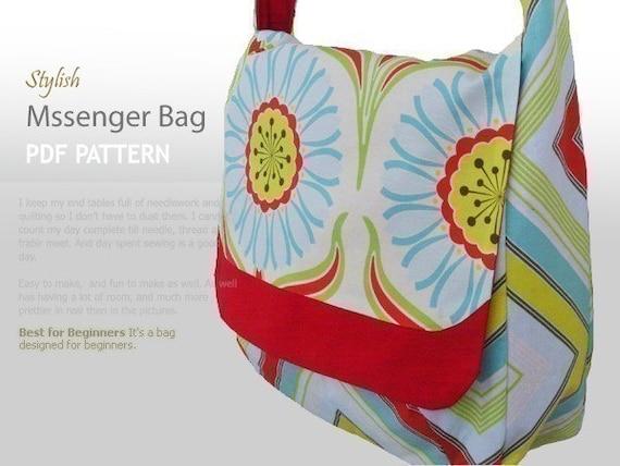 no 91 Messenger Bag PDF Pattern