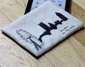 iPad sleeve with London skyline