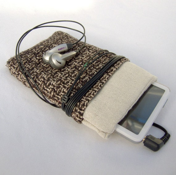 iPod Classic, iPodTouch, iPhone Sleeve from Vintage Fabric