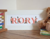 Personalised Toy Soldier Name Painting (6-10 letters)